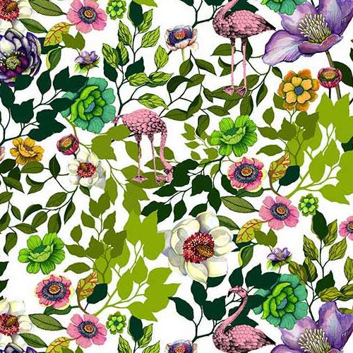 Flamingo Flowers – Floral pattern design