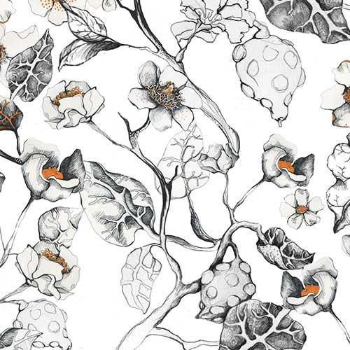 Poppy Flower Pattern Design – Hand drawn Pattern