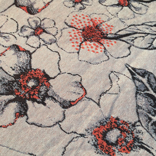 Knitted Flower fabric